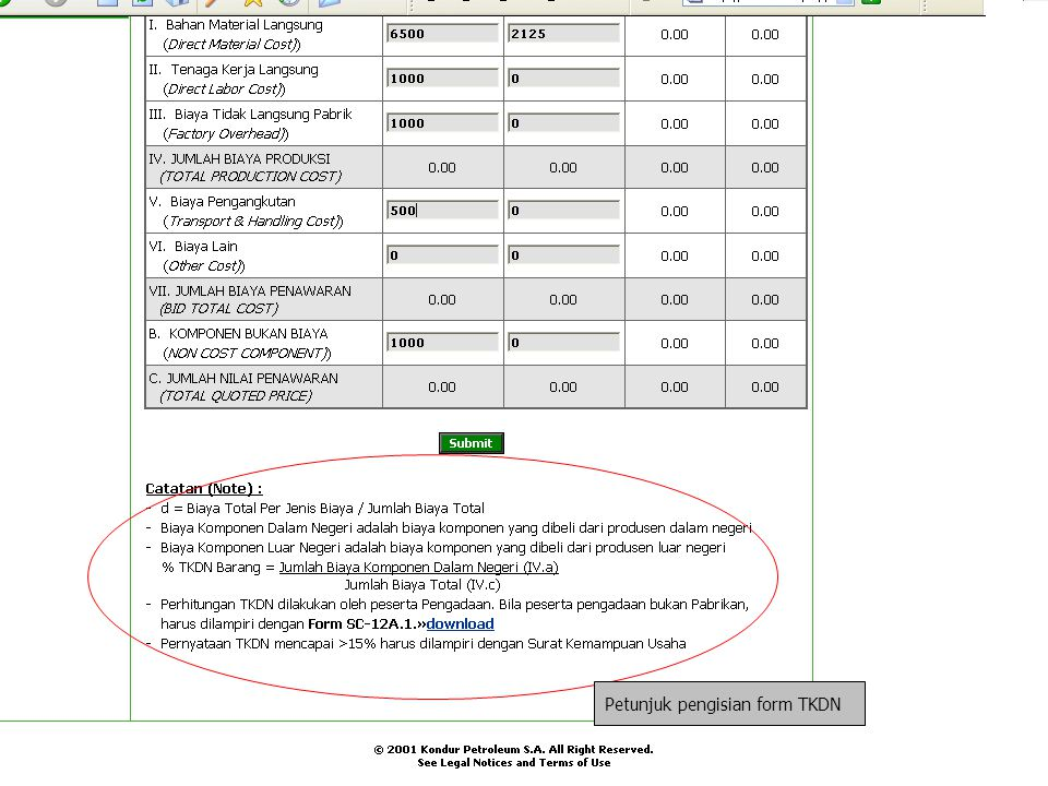 Petunjuk pengisian form TKDN