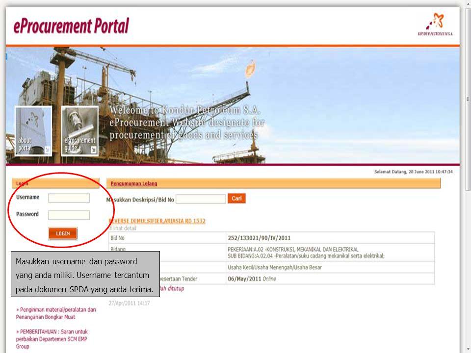 Tekan tombol quotation untuk melihat detail penawaran dan mengirim penawaran.