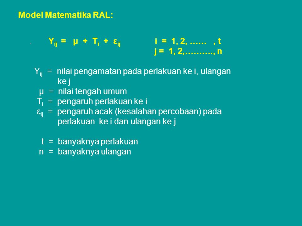 Model Matematika RAL:.