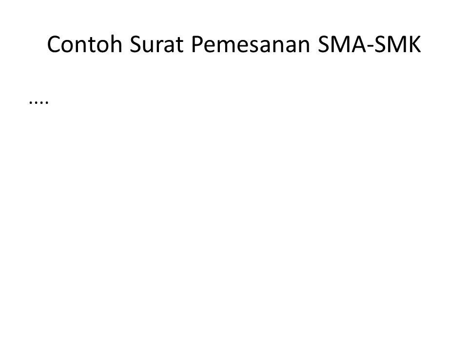 Contoh Surat Pemesanan SMA-SMK....