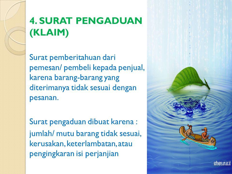 Bogor, 2 Maret 2005 Yth, Direktur PT Jati Murni di Solo Dengan hormat, Kami sangat bergembira menerima informasi tentang jenis-jenis dan harga perabot