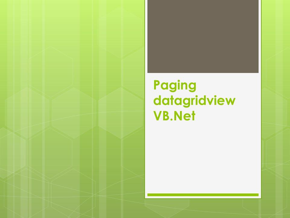 Pagination / paging  Pagination adalah proses pembagian data, menampilkan dan membatasi jumlah tampilan data  Data yang diperlukan antara lain total data, posisi awal data defaultnya adalah record pertama dan data yng ditampilkan