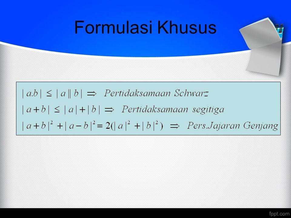 Formulasi Khusus