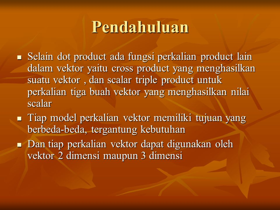 Perkalian Cross (CROSS PRODUCT)
