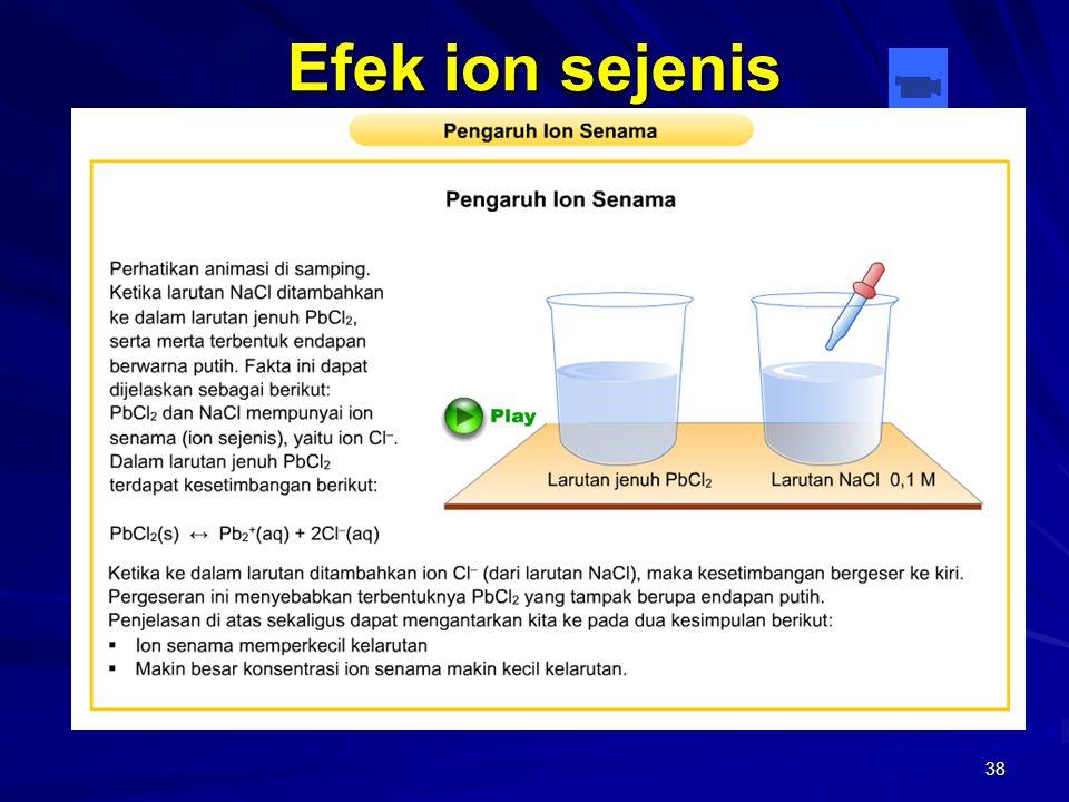 38 Efek ion sejenis