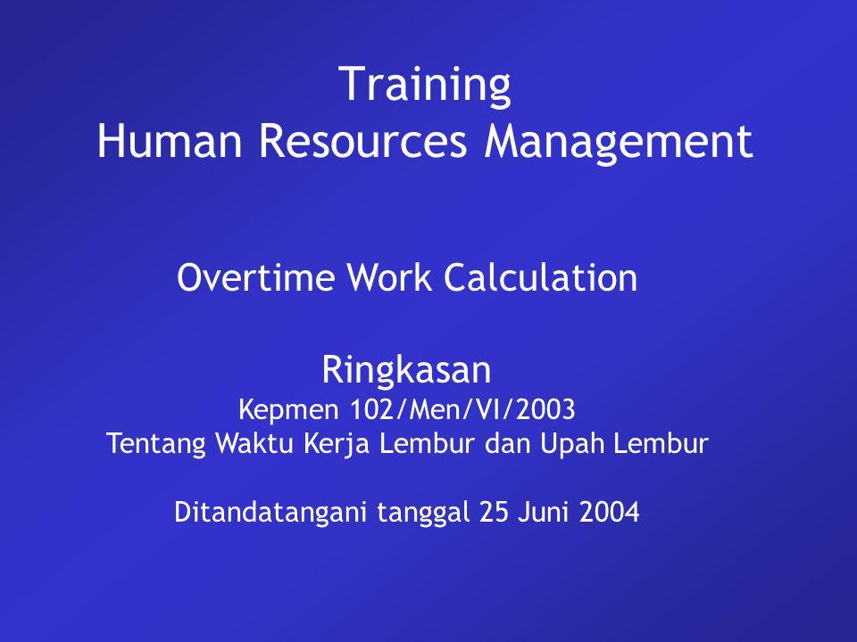 2 Overview UU 13/2003 Pasal 78 Perlu mengatur mengenai waktu kerja lembur dan upah kerja lembur.