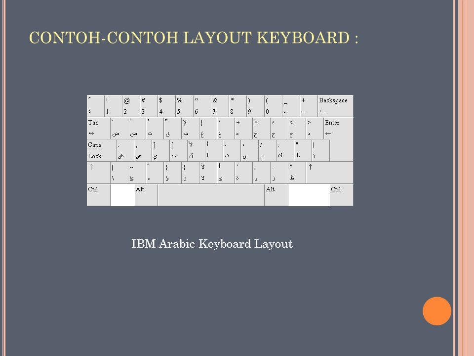 CONTOH-CONTOH LAYOUT KEYBOARD : IBM Arabic Keyboard Layout