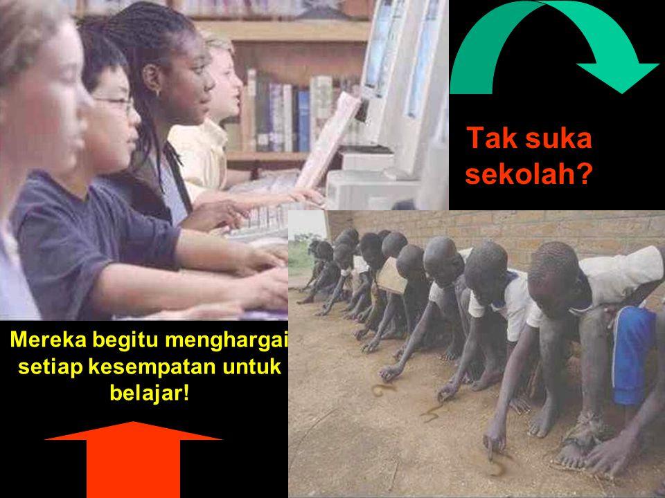 Mereka begitu menghargai setiap kesempatan untuk belajar! Tak suka sekolah?