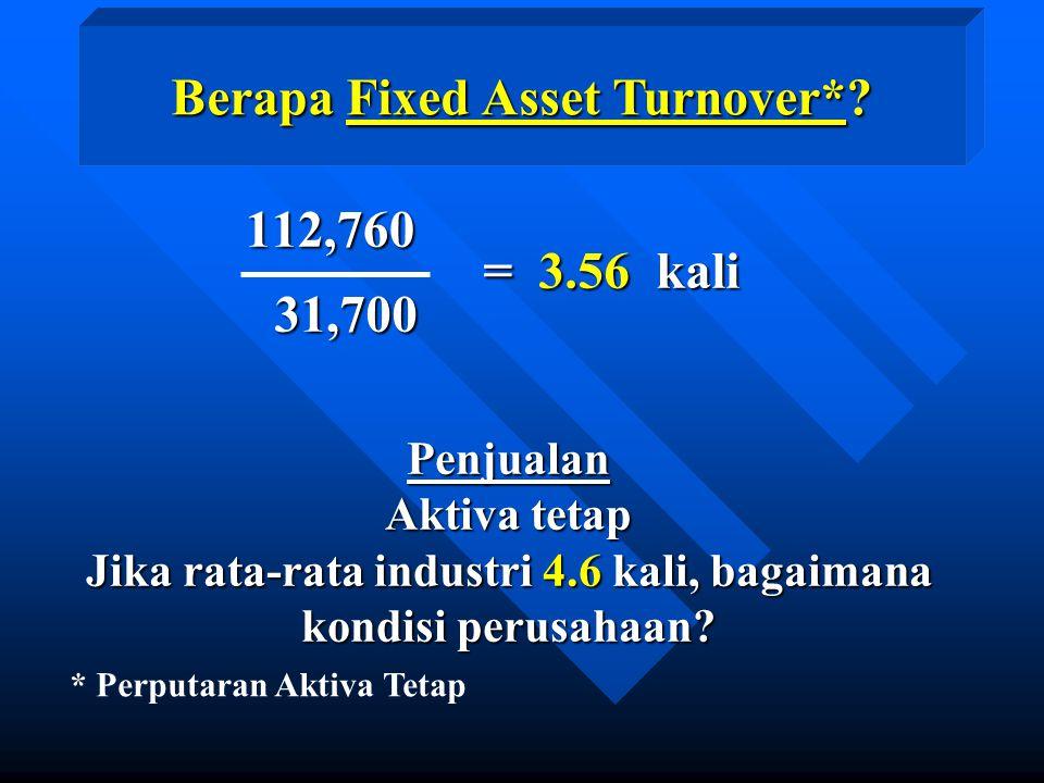Berapa Fixed Asset Turnover*.