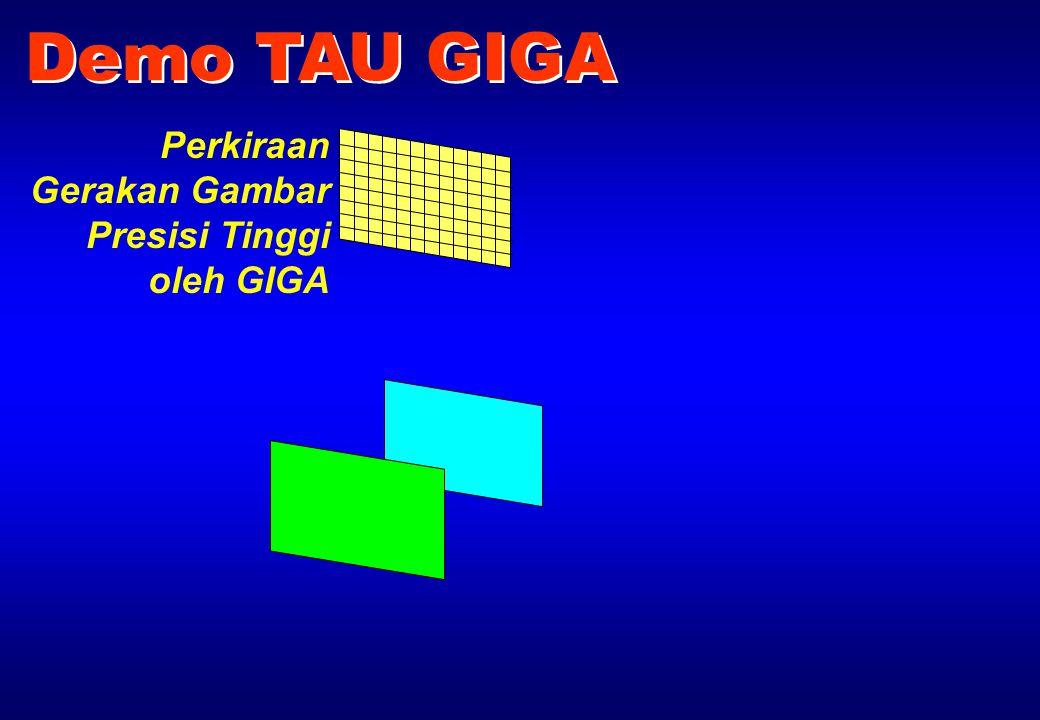 Perkiraan Gerakan Gambar Presisi Tinggi oleh GIGA Demo TAU GIGA