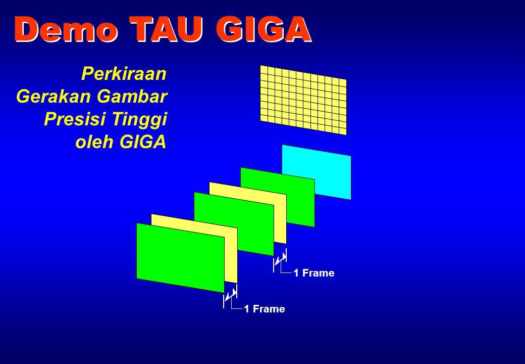 1 Frame Demo TAU GIGA Perkiraan Gerakan Gambar Presisi Tinggi oleh GIGA