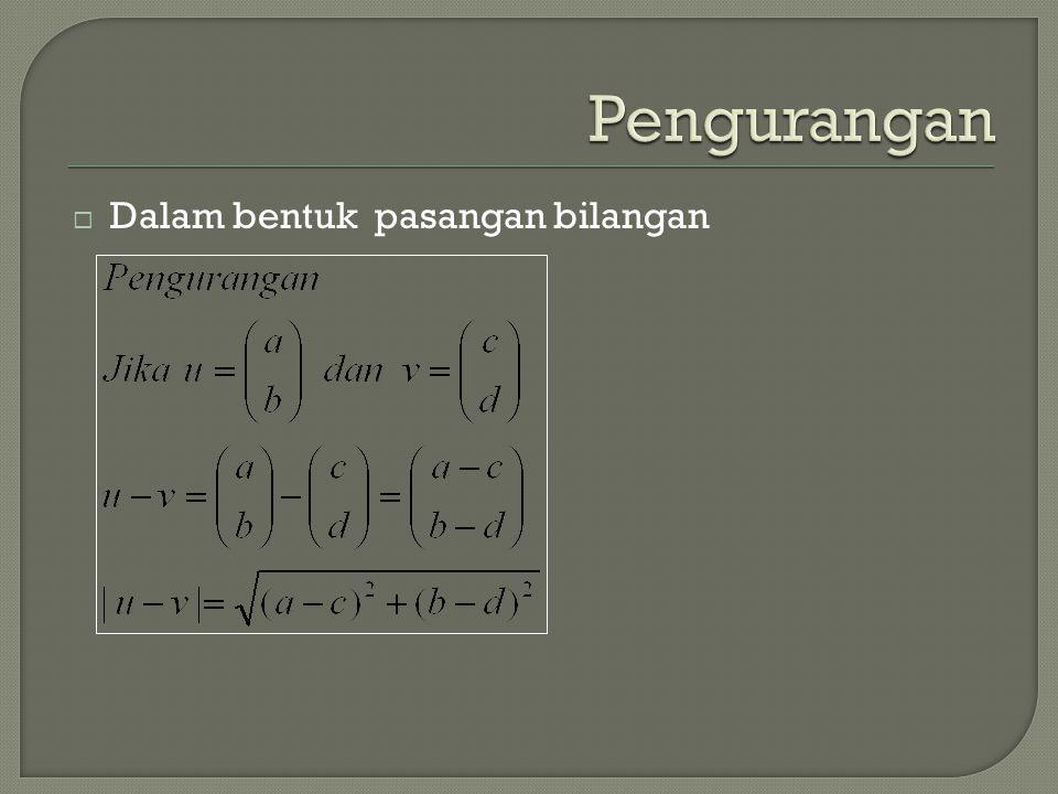  Dalam bentuk pasangan bilangan