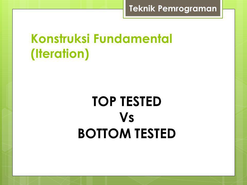 Konstruksi Fundamental (Iteration) Teknik Pemrograman TOP TESTED Vs BOTTOM TESTED