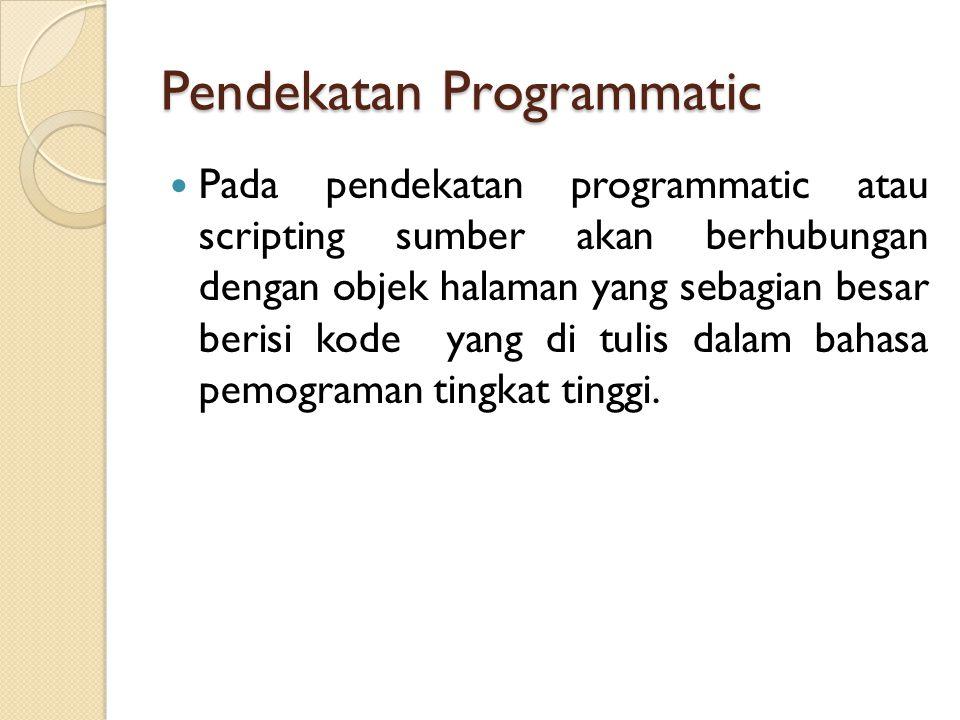 Pendekatan Programmatic CGI JAVA SERVLET API