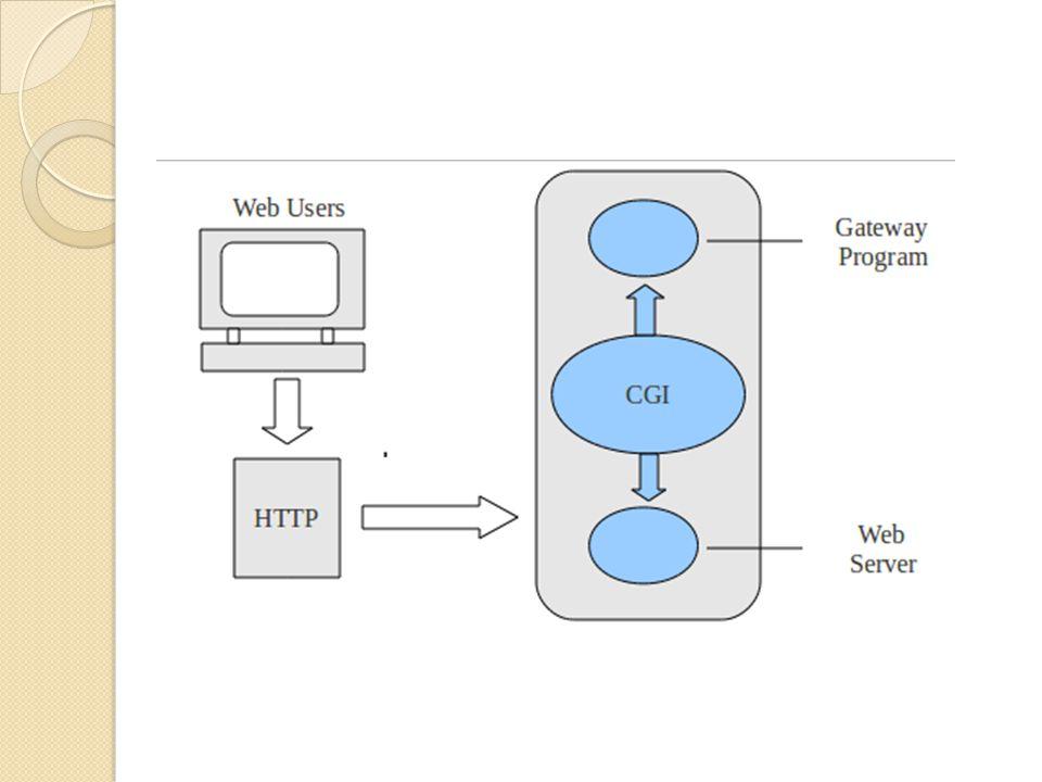CGI Pada awalnya CGI adalah salah satu yang mendekati aplikasi server-side programming.