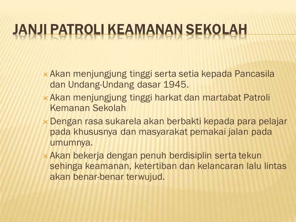  Akan menjungjung tinggi serta setia kepada Pancasila dan Undang-Undang dasar 1945.