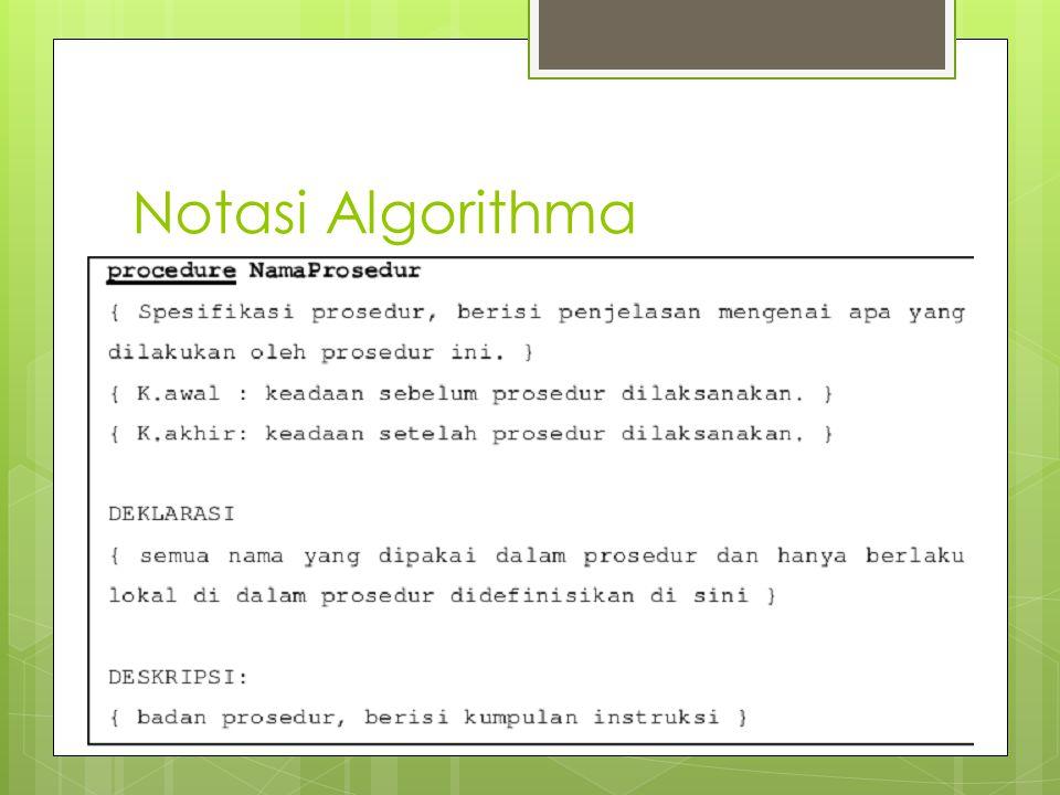Notasi Algorithma
