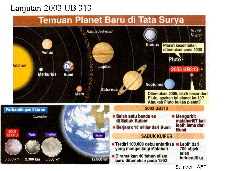 2003 UB 313 atau Xena Planet ke-10 baru ditemukan tahun 2003. Mempunyai 1 satelit yaitu Gabrielle. 17 Desember 2005: www.wikipedia.com Foto planet 200