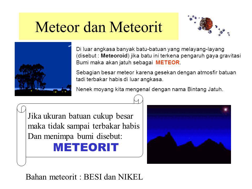 Asteroid (Planetoid) Adalah benda langit mirip planet kecil. Jumlahnya ribuan terletak antara orbit Mars dan Jupiter. Asteroid GASPRA Asteroid IDA