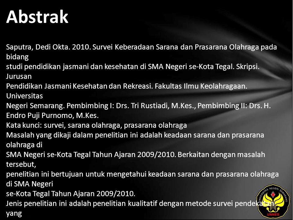 Abstrak Saputra, Dedi Okta. 2010.