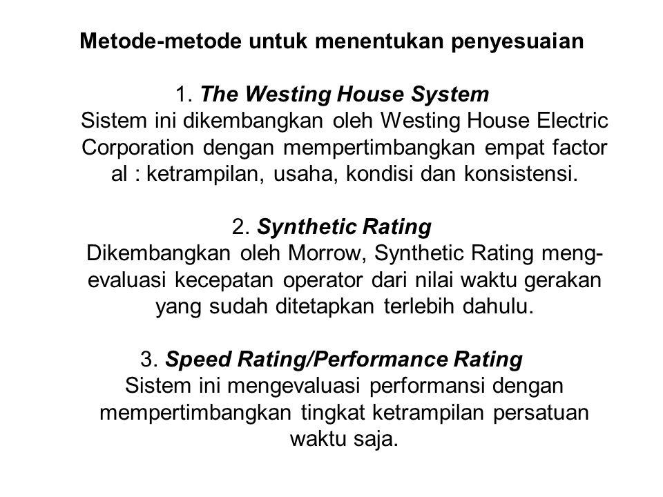 Metode-metode untuk menentukan penyesuaian 1.