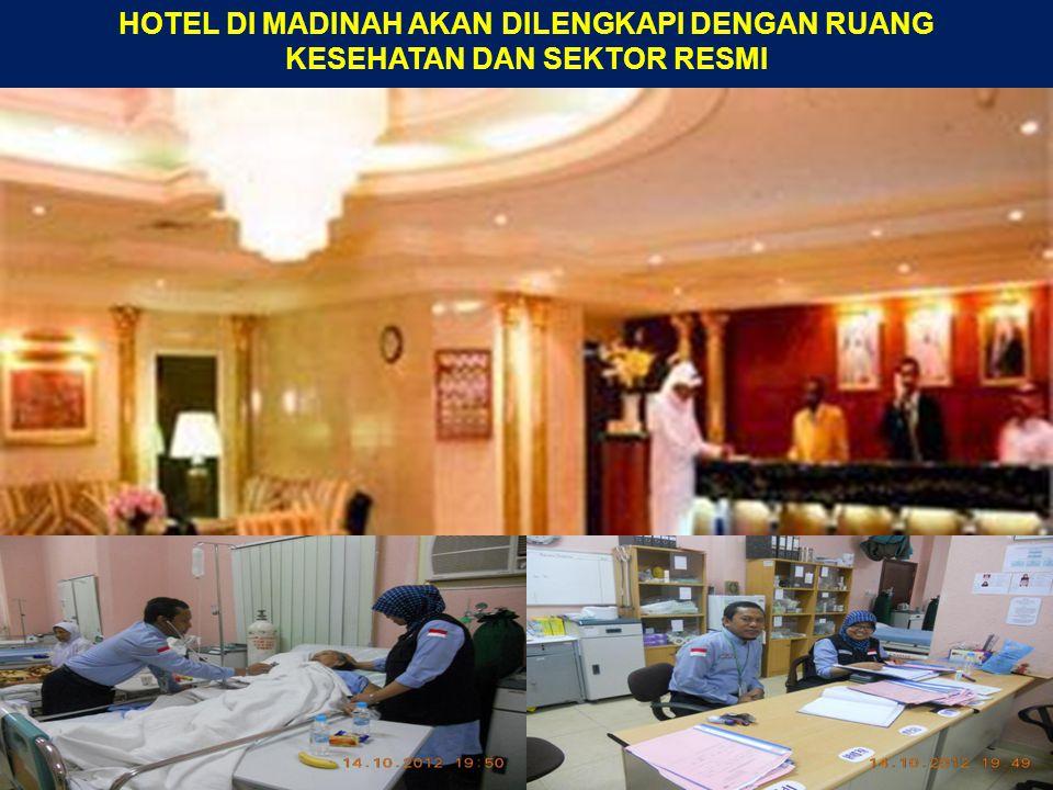 HOTEL DI MADINAH AKAN DILENGKAPI DENGAN RUANG KESEHATAN DAN SEKTOR RESMI