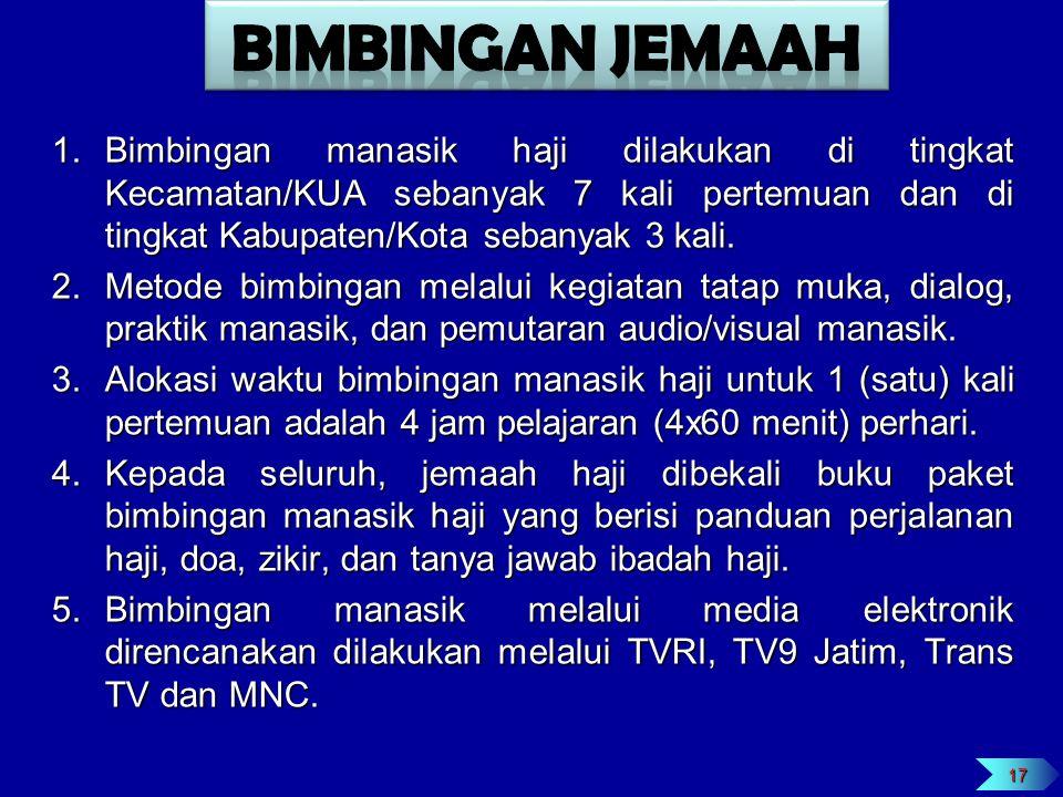 1.Untuk menjamin rasa aman dan perlindungan bagi jemaah haji, pemerintah akan menempatkan petugas Polri yang memiliki latar belakang Reskrim dibantu unsur TNI.