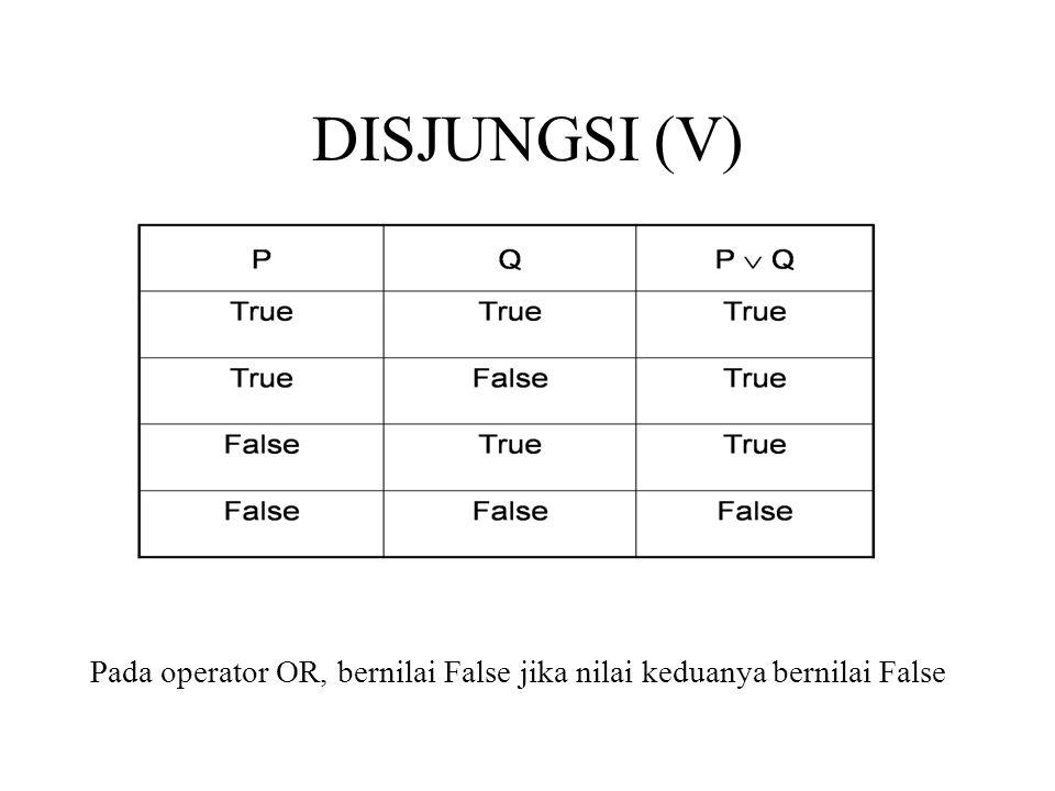LATIHAN Jawablah pertanyaan-pertanyaan berikut dengan tabel kebenaran.