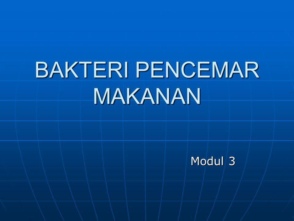 BAKTERI PENCEMAR MAKANAN Modul 3