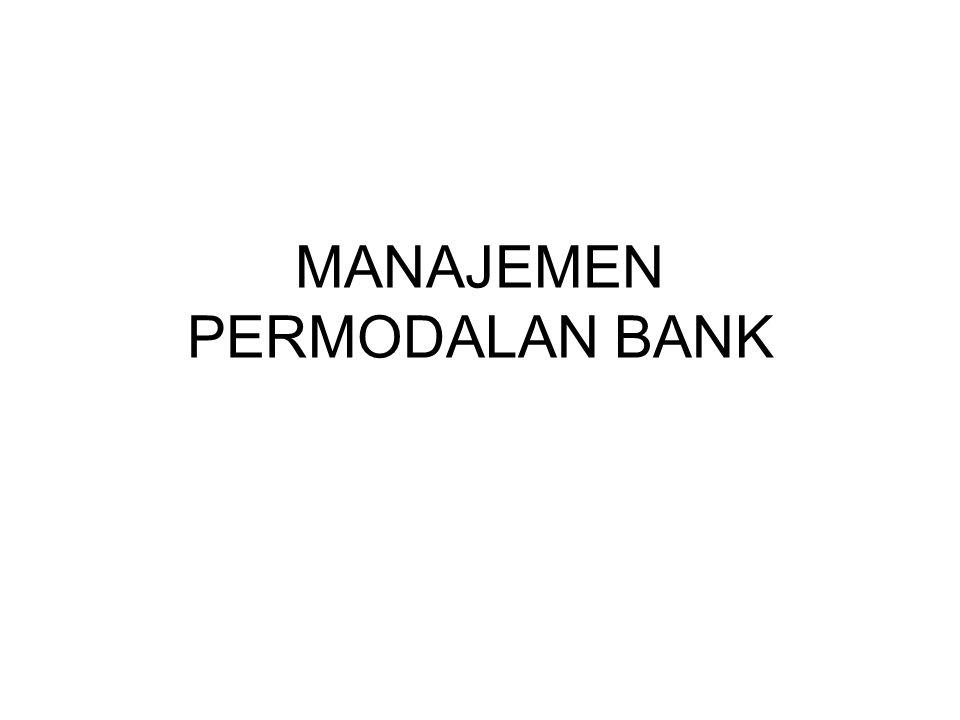 MANAJEMEN PERMODALAN BANK