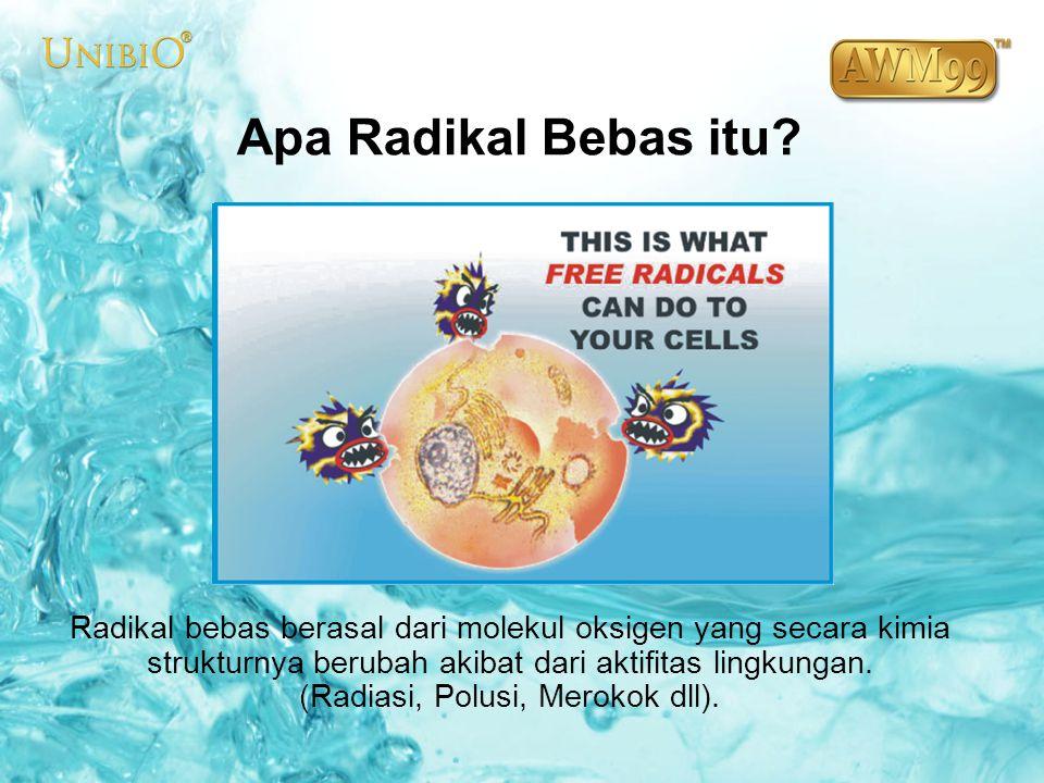 Radikal bebas yang beredar dalam tubuh berusaha untuk mencuri elektron yang ada pada molekul lain seperti DNA dan sel.