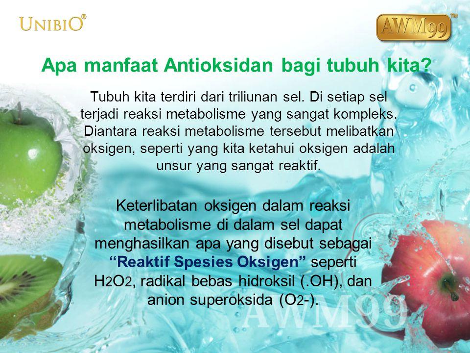 Apa manfaat Antioksidan bagi tubuh kita? Tubuh kita terdiri dari triliunan sel. Di setiap sel terjadi reaksi metabolisme yang sangat kompleks. Diantar