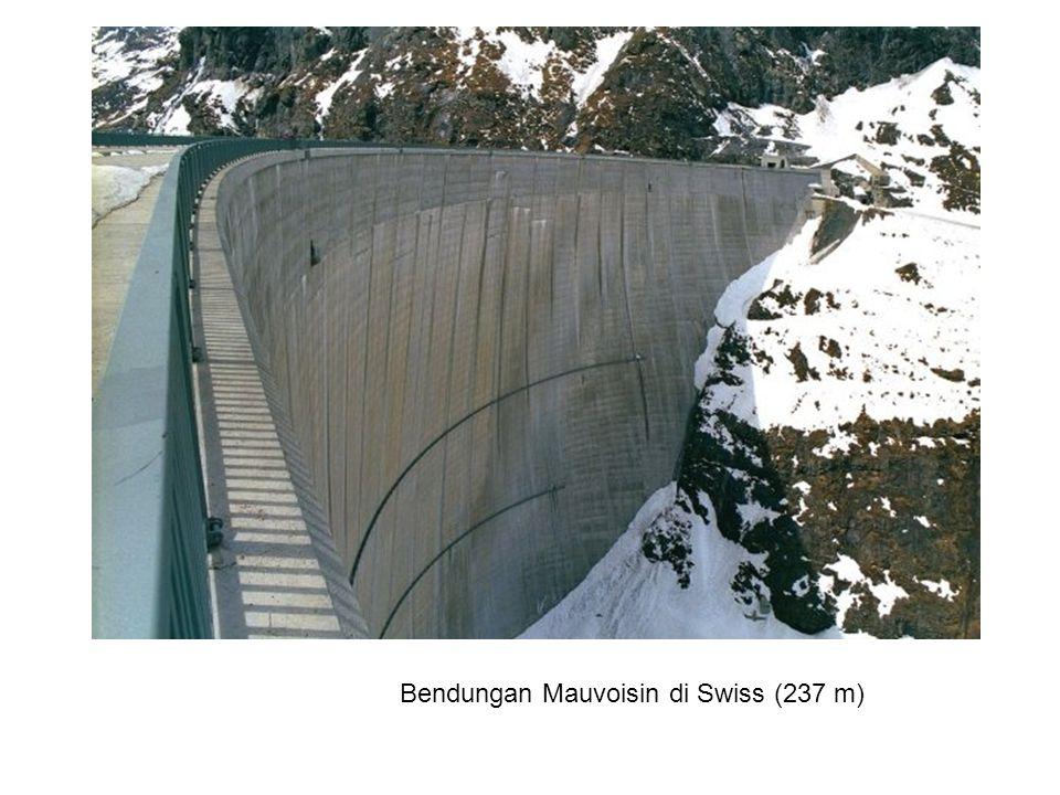 Bendungan Mauvoisin di Swiss (237 m)