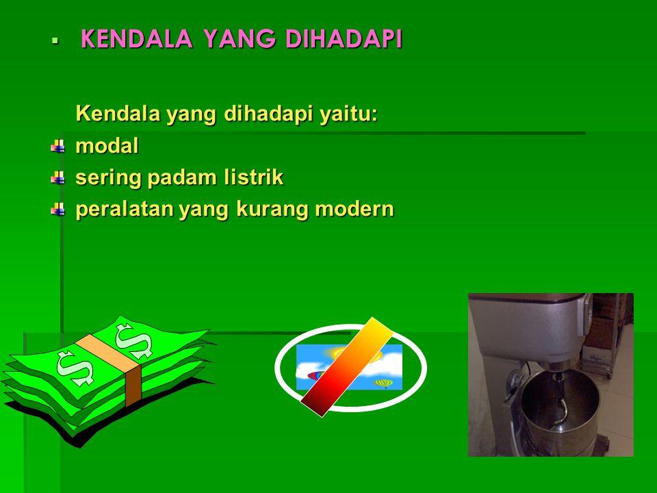  HASIL PENJUALAN PER HARI Usaha SONA bika ambon ini setiap harinya dapat menjual produknya dengan hasil penjualan sebesar Rp.700 ribu sampai Rp.800 ribu/hari.