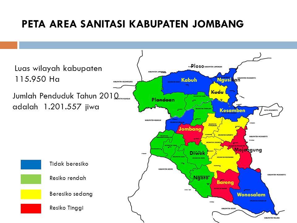 VISI dan MISI SANITASI KABUPATEN JOMBANG Terwujudnya Sanitasi Kabupaten Jombang yang Terpadu dan Berkelanjutan Berbasis Masyarakat 1.Meningkatkan partisipasi masyarakat dan swasta (dunia usaha) dalam pengelolaan sanitasi; 2.Meningkatkan upaya penyehatan lingkungan pemukiman melalui program perilaku hidup bersih dan sehat; 3.Meningkatkan partisipasi masyarakat dalam pengelolaan sanitasi; 4.Meningkatkan sosialisasi sanitasi yang memadai di masyarakat; 5.Meningkatkan cakupan layanan air bersih dan sanitasi (Air Limbah, Drainase Lingkungan dan Persampahan); 6.Meningkatkan cakupan layanan kebersihan di lokasi pasar; 7.Mengintegrasikan budaya hidup bersih dan sehat dalam kurikulum sekolah; 8.Menanamkan budaya hidup bersih dan sehat sejak dini.