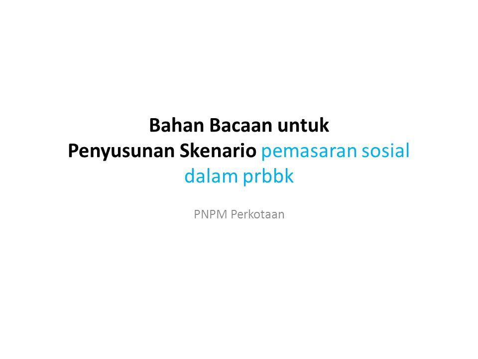 Bahan Bacaan untuk Penyusunan Skenario pemasaran sosial dalam prbbk PNPM Perkotaan
