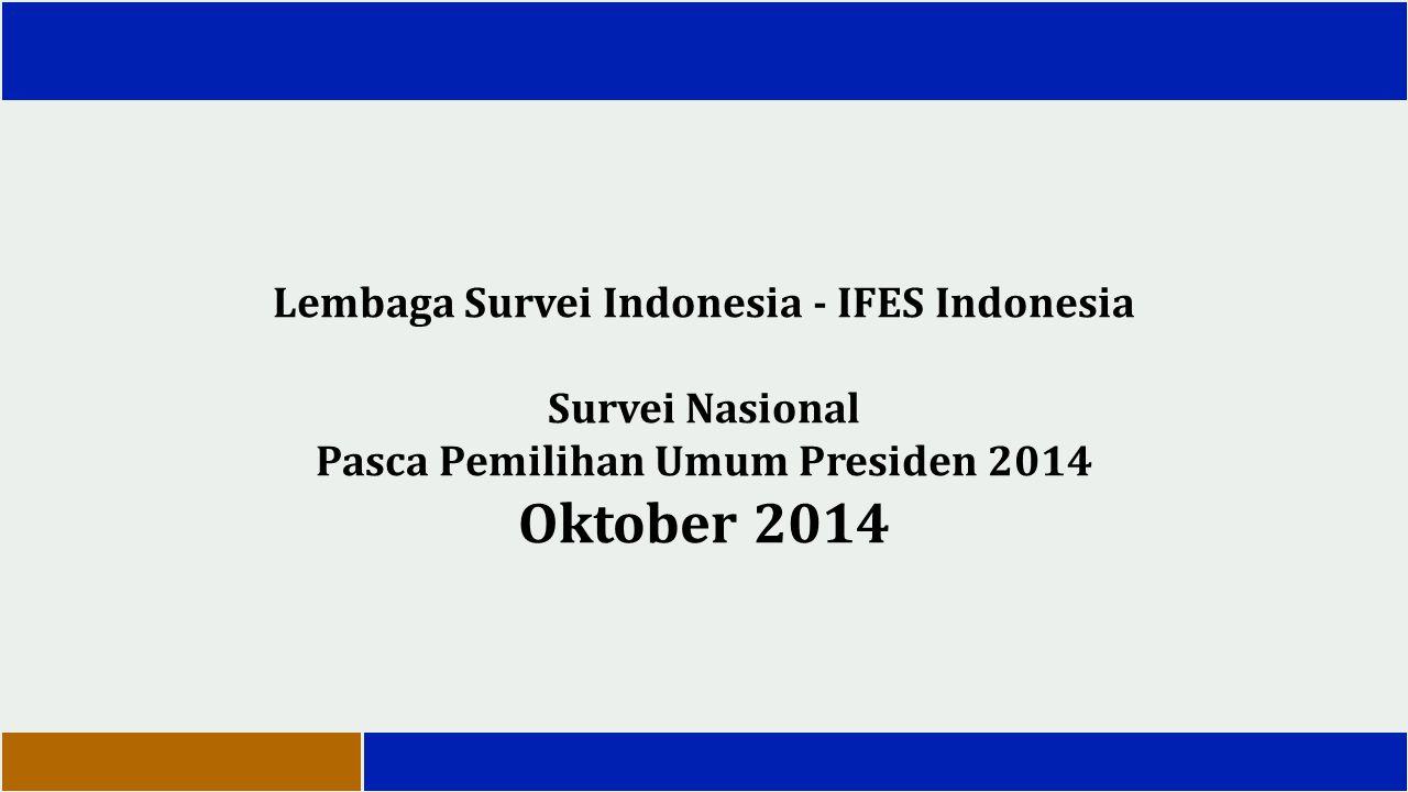 Temuan Utama Masyarakat Indonesia secara umum memberikan penilaian yang positif terhadap pelaksanaan pemilu Presiden yang baru lalu.