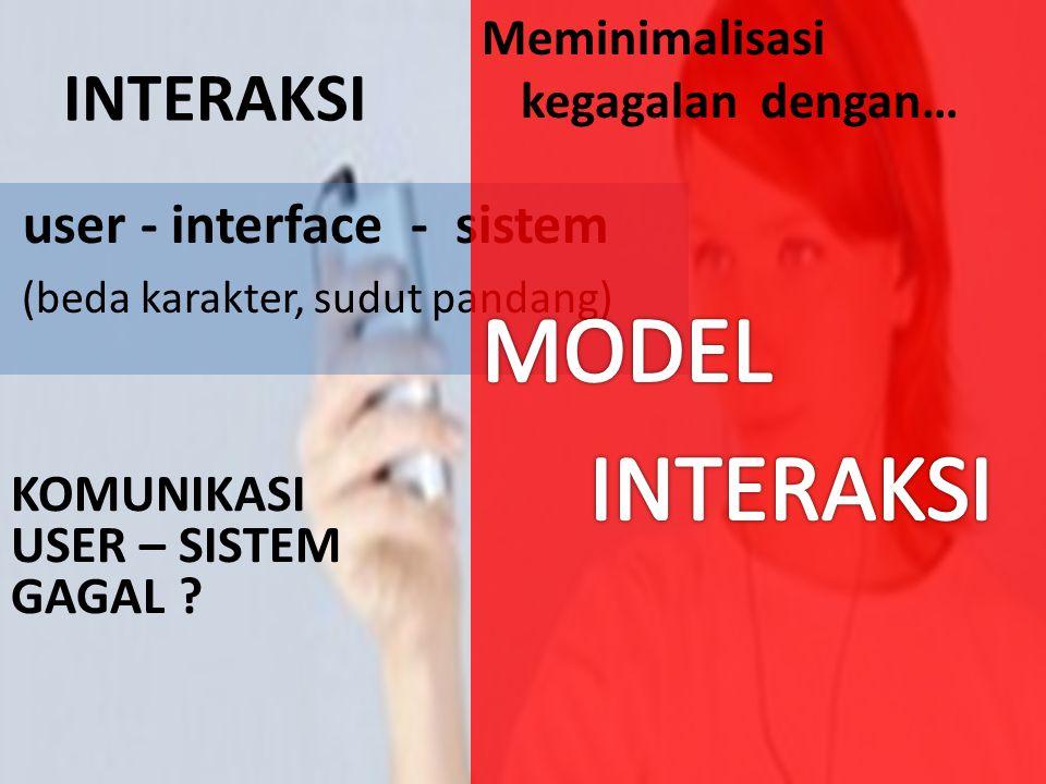 FLEXIBILITY Menyediakan banyak cara bagi user dan sistem untuk bertukar informasi