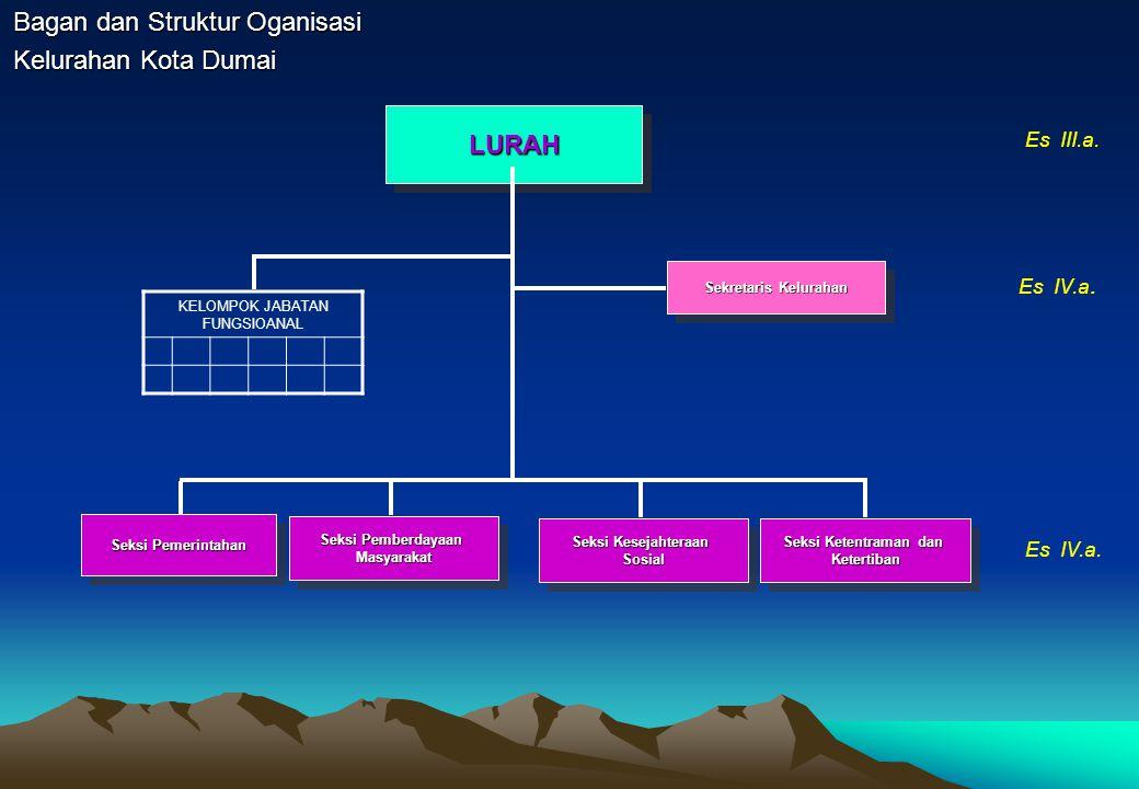 Bagan dan Struktur Oganisasi Kelurahan Kota Dumai LURAHLURAH Sekretaris Kelurahan Seksi Pemberdayaan Masyarakat Masyarakat Seksi Ketentraman dan Keter