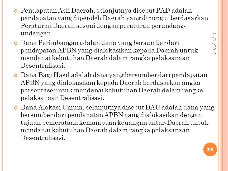 Pendapatan Asli Daerah, selanjutnya disebut PAD adalah pendapatan yang diperoleh Daerah yang dipungut berdasarkan Peraturan Daerah sesuai dengan peraturan perundang- undangan.