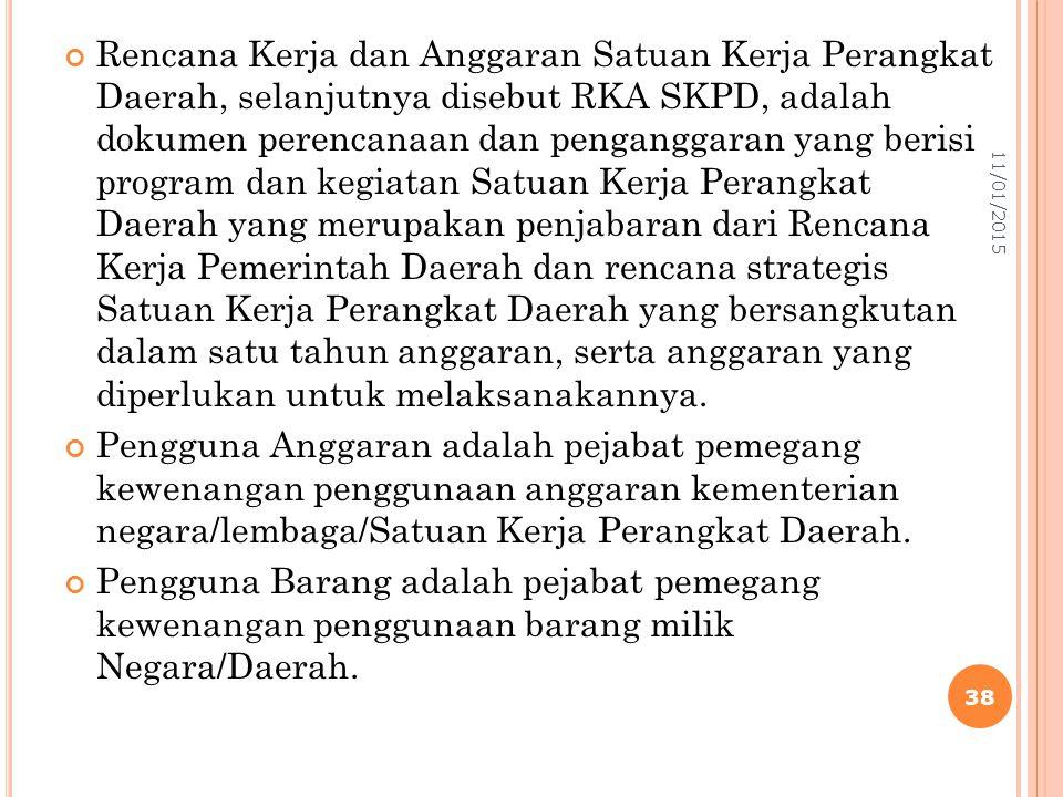 Rencana Kerja dan Anggaran Satuan Kerja Perangkat Daerah, selanjutnya disebut RKA SKPD, adalah dokumen perencanaan dan penganggaran yang berisi progra