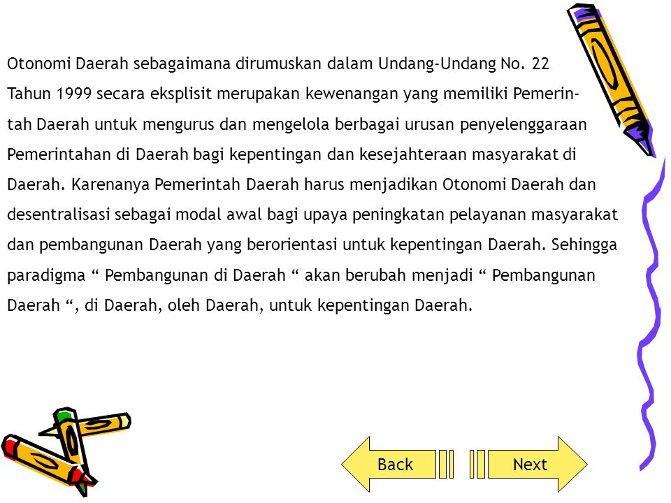 7.Penanaman modal8.Lingkungan Hidup 9.Pertanahan10.