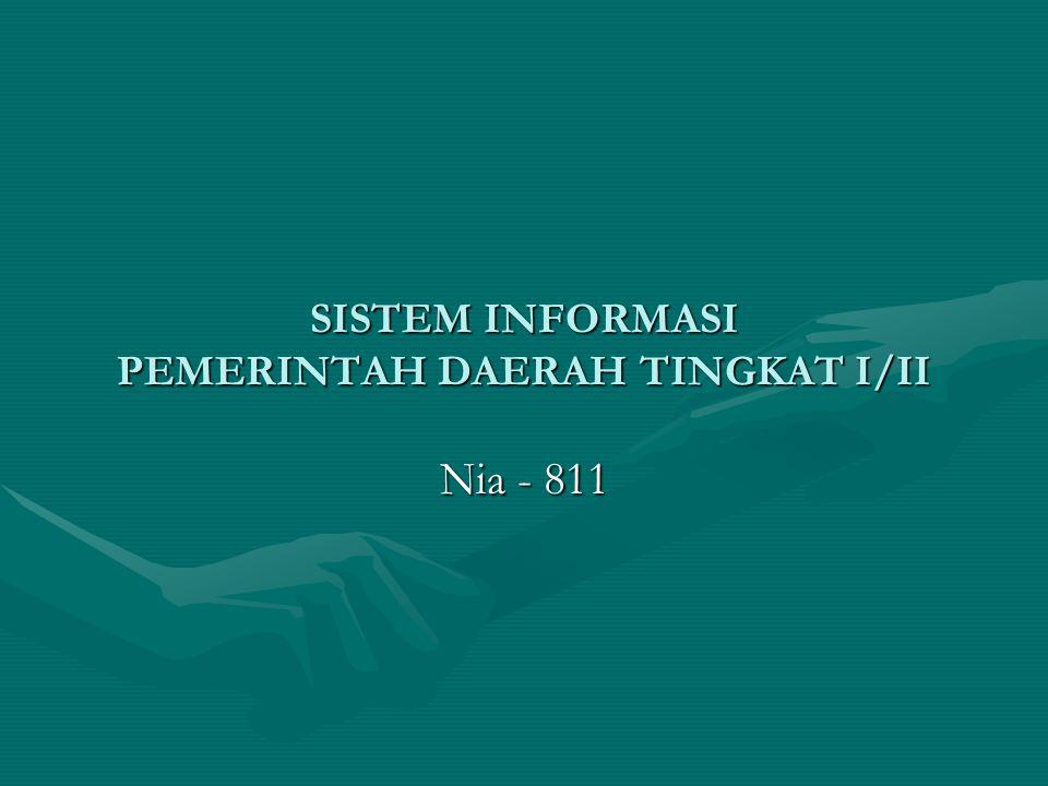 SISTEM INFORMASI PEMERINTAH DAERAH TINGKAT I/II Nia - 811