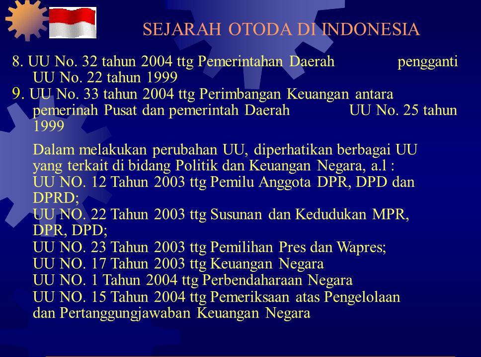 8.UU No. 32 tahun 2004 ttg Pemerintahan Daerahpengganti UU No.