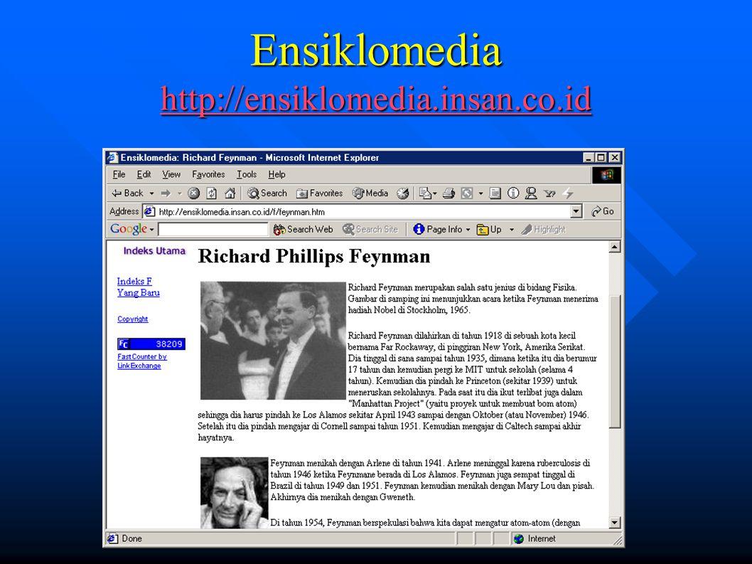 Ensiklomedia http://ensiklomedia.insan.co.id http://ensiklomedia.insan.co.id