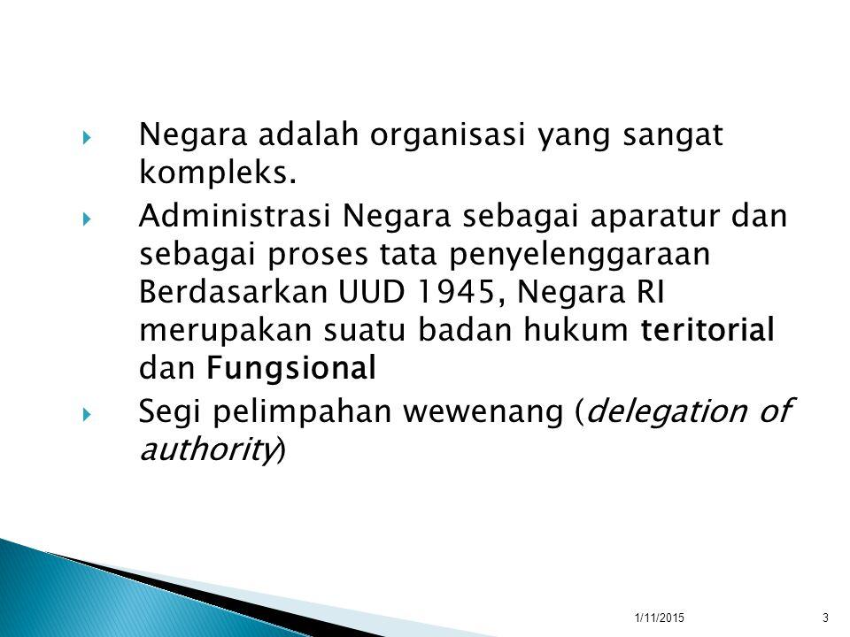  Negara adalah organisasi yang sangat kompleks.