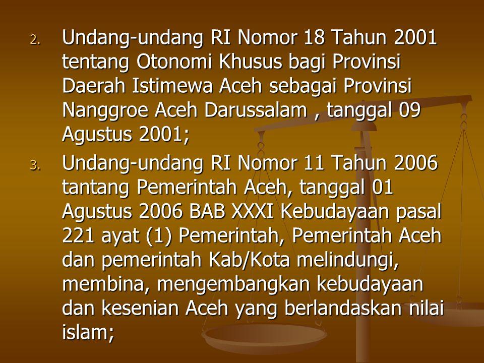 Kebijakan daerah dalam menunjang PABN : Pengajuan proposal untuk penetapan Kab.Aceh Besar untuk lokasi pilot project PABN.