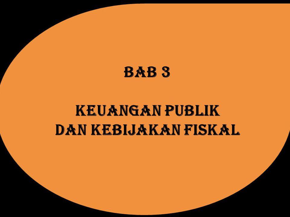BAB 3 KEUANGAN PUBLIK DAN KEBIJAKAN FISKAL
