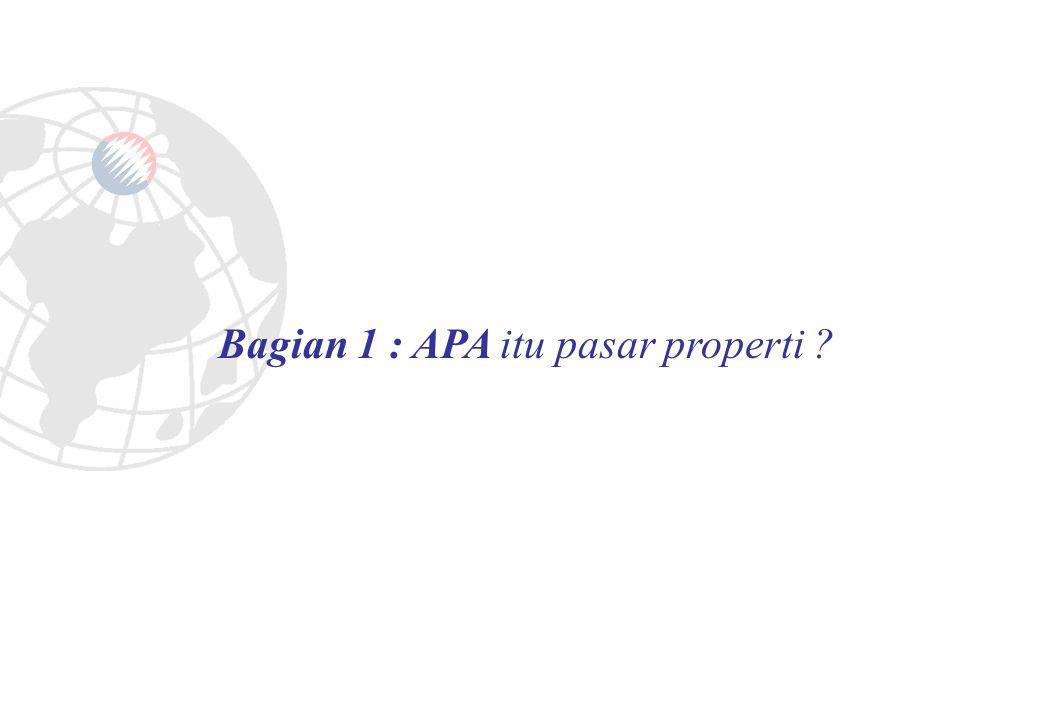PEMAHAMAN TERHADAP PASAR PROPERTI (Bagian 1) 1.