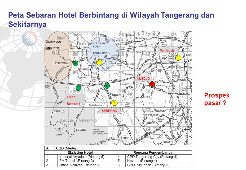 Master Plan CBD CILEDUG Rencana Site Hotel RENCANA PENGEMBANGAN HOTEL BINTANG 4